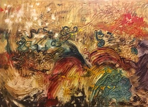 Textured abstract carnival art