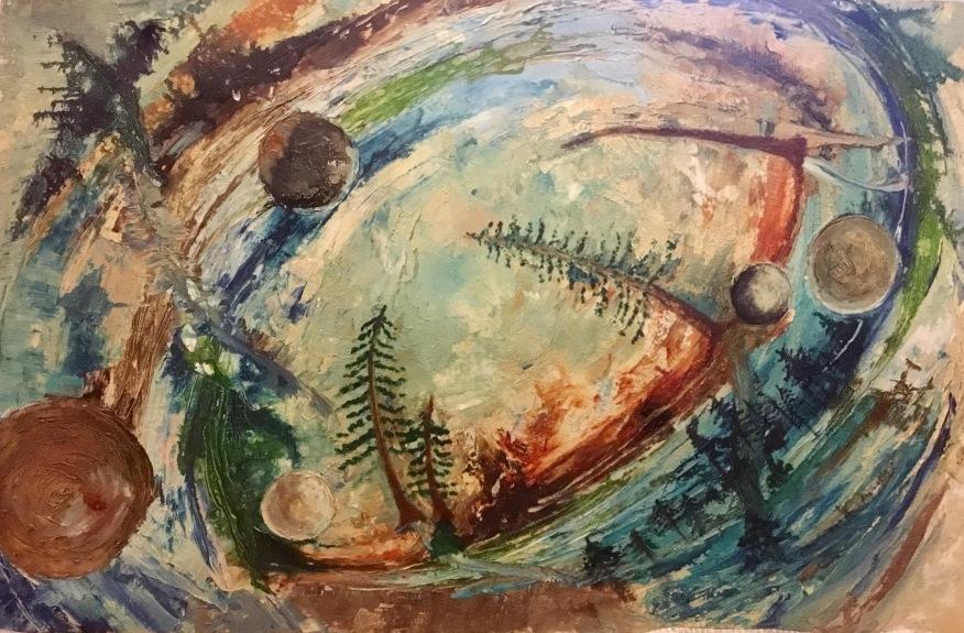 Textured fantasy dream art painting
