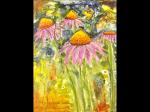 Psychedelic echinacea art