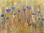 Blue flowers Impressionism art painting