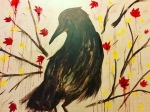 Crow impressionist painting