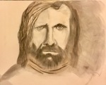 Sandor 'The Hound' Clelang GOT fan art charcoal