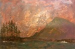 Textured landscape painting